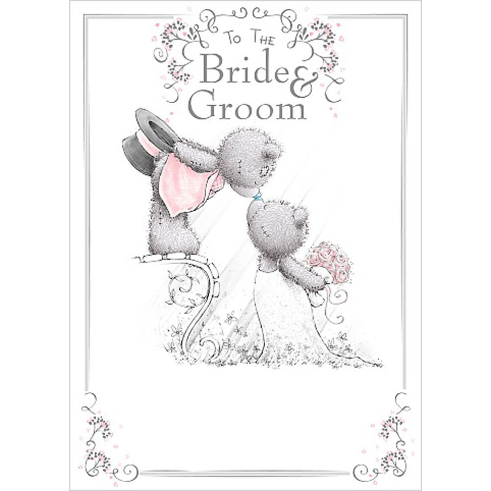 Bride & Groom Me To You Bear Wedding Day Card (ASS01048