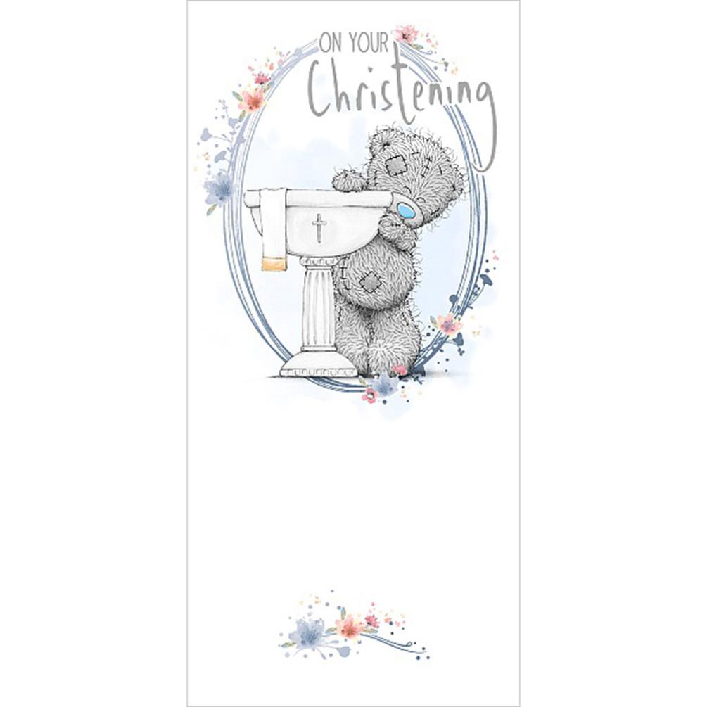 On Your Christening Me To You Bear Card (ASZ01005) : Me to