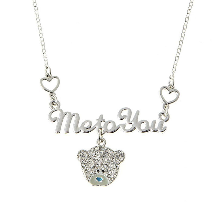 Me to You Necklace with Crystal Stones (G01J0041) : Me to