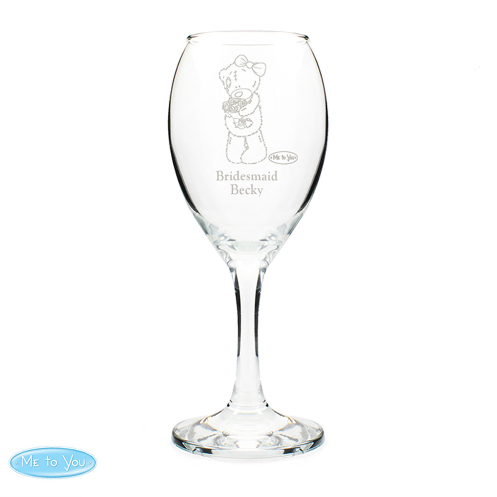 Personalised Me to You Wine Glass (P0107C31) : Me to You