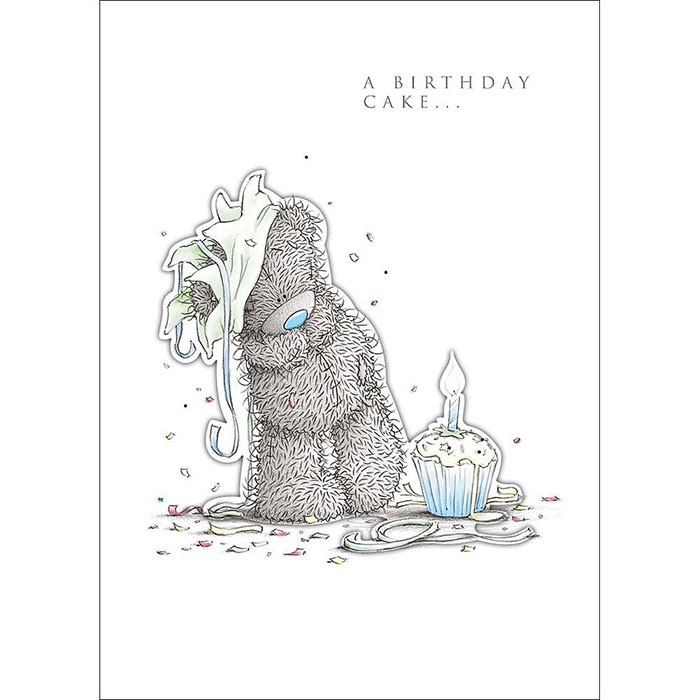 Tatty Teddy with Cake Me to You Bear Birthday Card