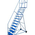 12 Step Rolling Ladder Metric Storage Systems