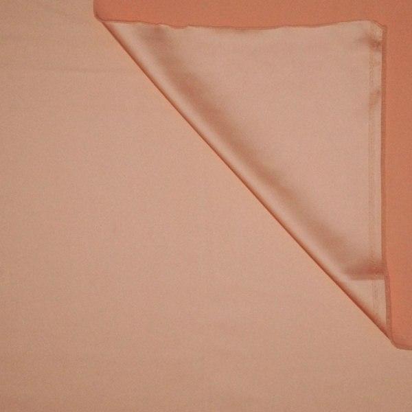 Tessuto tinta unita satin raso stretch colore rosa albicocca