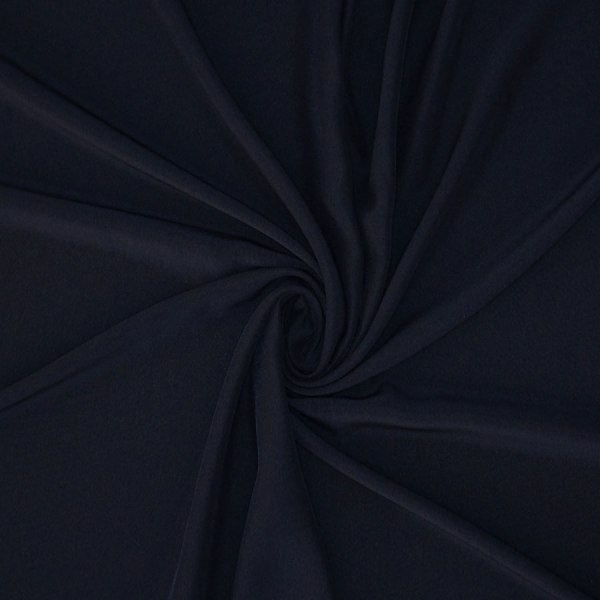 Tessuto tinta unita cady colore blu notte