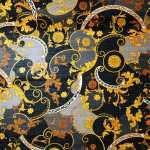Lana seta stampata barocco