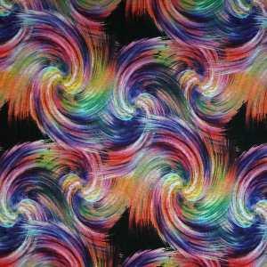Jersey mano calda – Pennellate multicolor