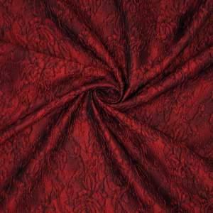 Broccato jacquard misto seta – rosso