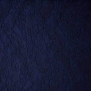 Broccato jacquard misto seta – blu scuro