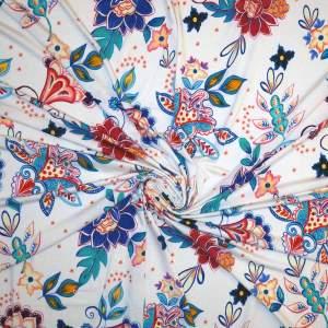 Jersey di viscosa – fiori stilizzati
