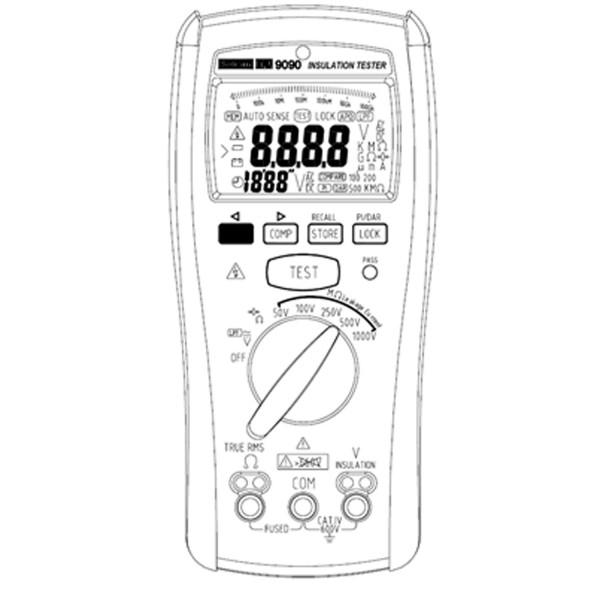 Metrix Electronics MW9090 50V-1000V Insulation Tester 600V