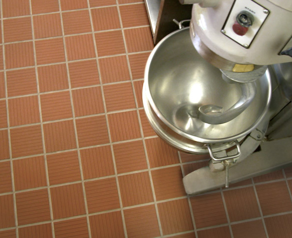 commercial kitchen tile island with seating for 2 gallery metropolitan ceramics 6x6 metro tread 310 mayflower red