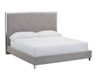 PATRIA BED – QUEEN – VINTAGE LINEN GREY FABRIC