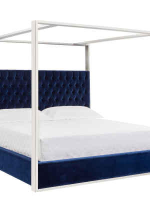 DALTON BED – QUEEN – GIOTTO NAVY FABRIC