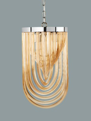 KEPLER – CHANDELIER – SMALL – AMBER GLASS