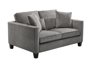 CATHEDRAL LOVESEAT – GREY FABRIC