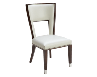 NAPLES DINING CHAIR - IVORY LEATHER - metro element