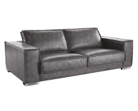 BARETTO SOFA – GREY LEATHER