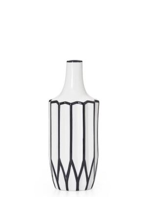 Abstract 12″ Height Linear Outline Vase