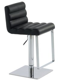 Fanning Adjustable Stool Black
