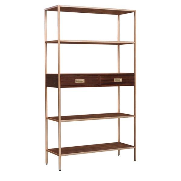 Jude Bookcase Shelving Carob