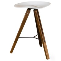 Theo Tractor Stool Bar Stool White