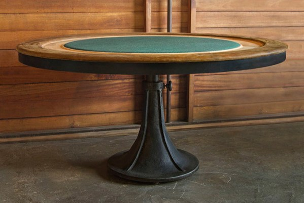 Poker Table Gaming Table Raw Oak