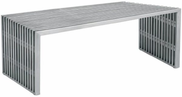 Amici Occasional Bench Silver