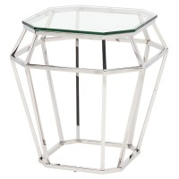 Diamond Side Table Clear