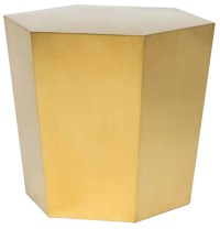 Hexa Tapered Side Table Silver