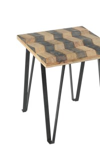 Matrix Parquet End Table – Sheesham Rosewood