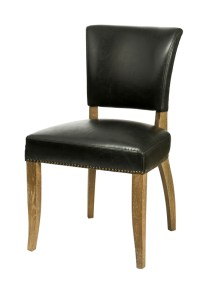 Luther Dining Chair – Black Bicast Leather (2/Box)