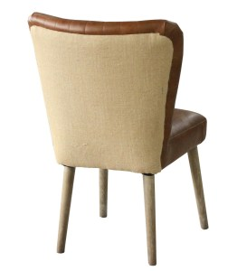 Leifer Dining Chair-Distressed Brown leather (2/Box)