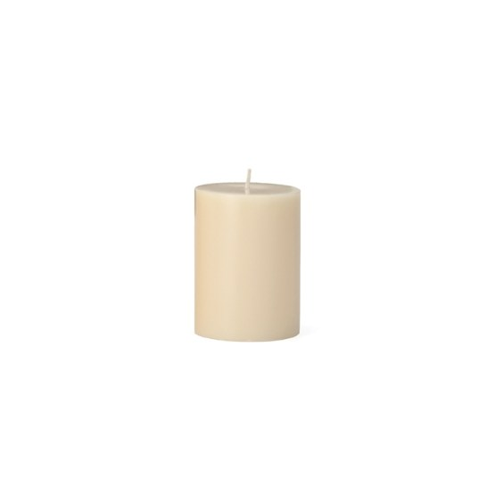 Prime Palm Wax Pillar Candle 3×4 – Ivory