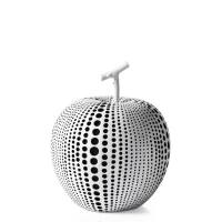 Debossed Dotted Apple – White