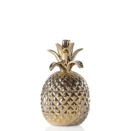 Pineapple Gold Crown Gold Ceramic Canister – Short