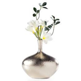 Lilo Dimpled Ceramic Vase Wide – Gold