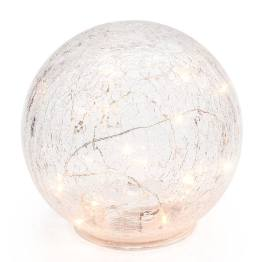 Led Sphere 6″ Crackle Glass Decor Light