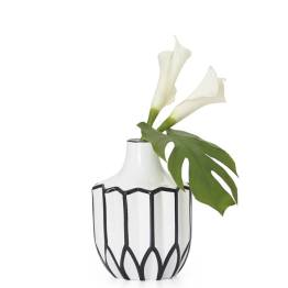 Abstract 9″h Linear Outline Vase