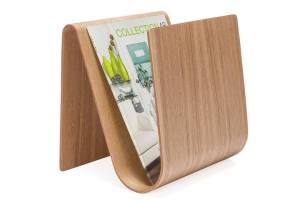 Kento Curve Wooden Magazine Rack
