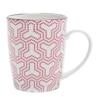 Kiri Porcelain Mug – Red Matrix
