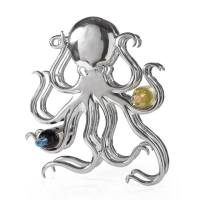 Octopus Aluminum 8 Bottle Wine Rack