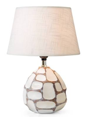 Carved Patch Resin Accent Table Lamp
