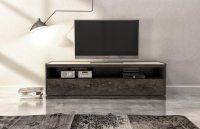 "CLOE 66"" media base with laquered glass top"