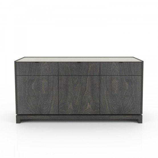 "Cloe 60"" Sideboard with laquered glass top"