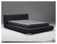 Fresca King Bed Charcoal Grey Fabric