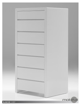 Blanche 6-Drawer Chest High Gloss Stone