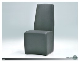 Stax Stackable Dining Chair Dark Grey Fabric with Fabric Upholstered Metal Legs Set of 2