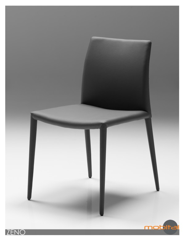 Yucatan Dining Chair White with Polished Stainless Steel Set of 2