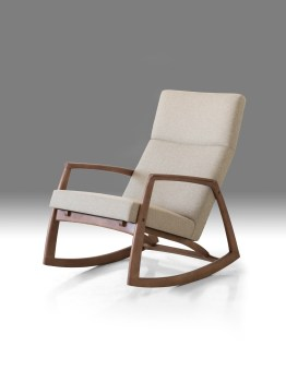 Parry Lounge Chair Sand Tweed Fabric with Ash Stained Light Walnut