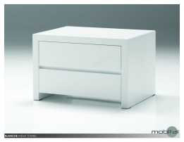 Blanche 2 Drawer Night Table High Gloss Stone